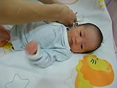 2010.10.01~10月14日 Dora 24天前點滴:10月03日 正在穿衣服的Dora.JPG
