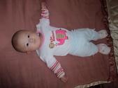 2011年Dora的人生第一個春節:0125Dora 眼睛跟著鏡頭.JPG