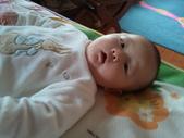 2011年0220到0420(Dora第五到7個月生活點滴:0325Dora 兔子裝近拍.jpg