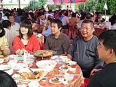2010年9月26日 歡慶陳宥睿 滿月酒席:第一桌 大伯父 笑容洋溢燦爛.JPG