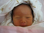 2010年9月26日 歡慶陳宥睿 滿月酒席:Dora 瞇瞇眼的微笑.JPG