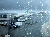 日本北海道之旅:出發前的桃園機場,下雨