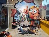 阿俊3D彩繪@相簿:國哥炸雞手工牆繪,室內牆體彩繪設計,LINE ID: 559383 TEL:0955-660115