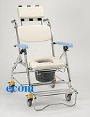 便器椅/洗澡椅/助行器:JCS-207 鋁合金背可調收合洗澡便器椅...靠頭