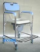 便器椅/洗澡椅/助行器:JCS-203 鋁合金有輪洗澡便器椅