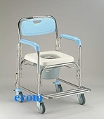 便器椅/洗澡椅/助行器:JCS-301 不銹鋼洗澡便器椅