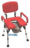 便器椅/洗澡椅/助行器:HS 5081收納型高級便器椅(紅色)