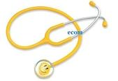 3M聽診器/Spirit聽診器:spirit黃色笑臉單面聽診器CK-AC603S