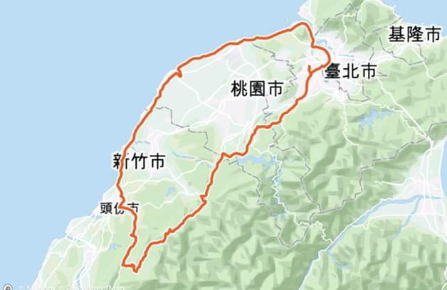 1-小台灣軌跡圖.jpg - 一日單車環島
