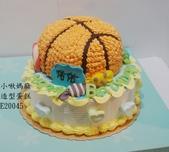 2D蛋糕(尚未分類):LE20045籃球蛋糕+籃球造型蛋糕+籃球+小啾媽麻造型蛋糕.jpg