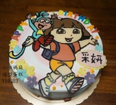 朵拉Dora:LV10303朵拉蛋糕+BOOTS蛋糕+DORA+台中造型蛋糕+小啾媽麻造型蛋糕.jpg