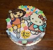 朵拉Dora:LV10231朵拉蛋糕+kitty蛋糕+台中造型蛋糕+小啾媽麻造型蛋糕.jpg