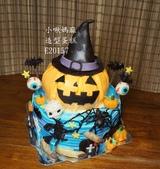 2D蛋糕(尚未分類):LE20157萬聖節蛋糕+Halloween+萬聖節+台中造型蛋糕+小啾媽麻造型蛋糕.jpg