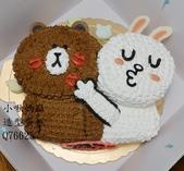 立體造型蛋糕(尚未分類):LQ76625熊大兔兔蛋糕+小啾媽麻造型蛋糕+台中造型蛋糕+熊大兔兔.jpg
