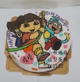 朵拉Dora:LV10133朵拉蛋糕+DORA蛋糕+DORA+小啾媽麻造型蛋糕+台中造型蛋糕.jpg