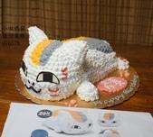 立體造型蛋糕(尚未分類):LQ76578夏目友人帳的貓咪老師+小啾媽麻造型蛋糕+台中造型蛋糕.jpg