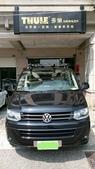 Volkswagen車系安裝範例:VW T5車頂架(Thule 753)+車頂快拆攜車架*8台份(Thule 561).