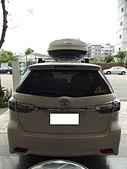 Toyota車系安裝範例:Toyota Wish車頂架(Thule 754)+490L亮白行李箱(Meedo 9031).