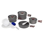 露營裝備:Fire Maple黑鋁雙柄野營套鍋組(4~5人份)