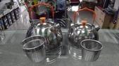 露營裝備:BRS不銹鋼野營茶壺/1.1L&0.6L