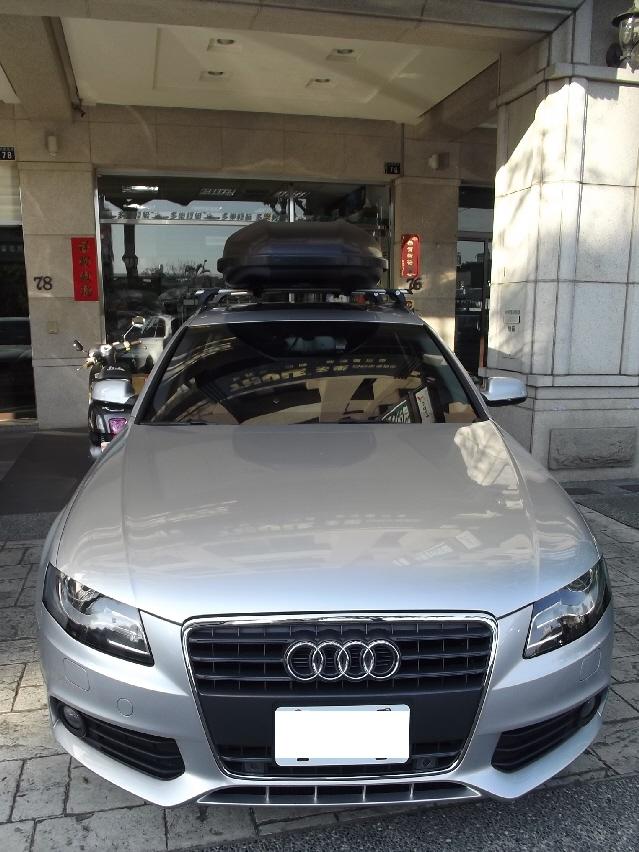 Audi A4 Avant車頂架 Whispbar Throughbar 460l碳纖紋雙開行理箱 Yakima