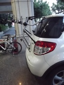 Suzuki車系安裝範例:Suzuki-SX4後背式攜車架x3台份(Thule-Freeway968)