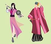 平面設計類作品:俠女和居士