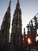 2011年10月義大利16日遊:米蘭大教堂之頂樓.JPG