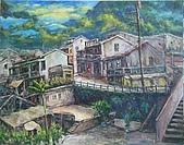 2009 年painting exhibition 西畫社聯展:倪耿_九份山城20P96.jpg