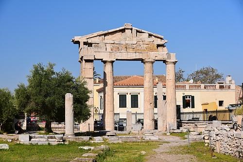雅典15-古羅馬市集-雅典娜之門.JPG - 雅典Athens
