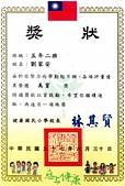 獎狀:96學年健康國小五年級劉家安美育獎