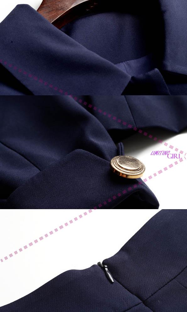 ▼limiting_girl 預購 2019【歐洲時裝指標】1001愛麗莎 巴黎甜美 氣質淨色翻領衣 同款短裙 套裝