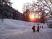 長野‧090116‧北志賀滑雪旅行:黃昏