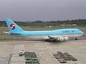 成田機場展望台:韓航 747-400