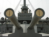 橫須賀三笠紀念公園:艦首12吋大砲