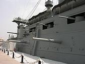 橫須賀三笠紀念公園:三笠的側舷火力