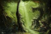 photoshop電繪 2014:森林2.jpg