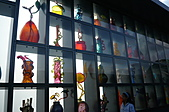 2008-02 Tacoma 玻璃博物館:天橋上的玻璃展示牆