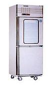 不銹鋼直立式冷凍冷藏庫:雙門上玻凍藏庫