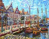 鄭美珠2007年與荷蘭有關畫作:冒險者的家鄉/荷蘭-荷恩