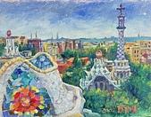 鄭美珠2001-05年油畫:巴塞隆納奎爾公園 oil47.jpg