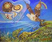 鄭美珠2001-05年油畫:不大不小的島嶼oil53.JPG