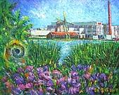 鄭美珠2007年與荷蘭有關畫作:拜訪風車的原鄉/荷蘭-贊資堡aDSCN6602.jpg