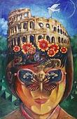 鄭美珠2001-05年油畫:白鳥單飛-羅馬oil37.jpg