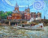鄭美珠2007年與荷蘭有關畫作:航行的心弦在盪漾/阿姆斯特丹