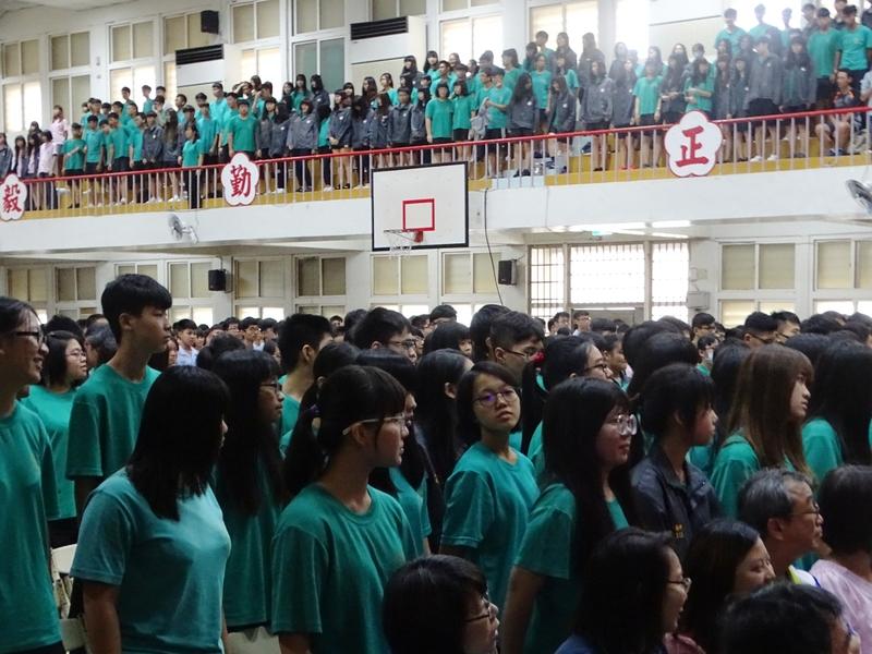 每日照片:1070830馬公高中開學典禮在崇正堂舉行。(嚴光澎攝)DSC03580.JPG
