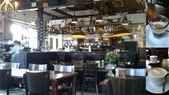 【2017。荷蘭】超極貴婦團之 庫肯霍夫花園Keukenhof 。羊角村:羊角村的Grang cafe Fanfare  咖啡店。陳姐請喝咖啡,順便上洗手間