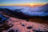 2014合歡雪:合歡山主峰夕陽
