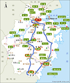 2009.04浙江廊橋奇山秀水之旅:浙江簡圖.gif