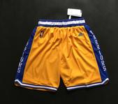 NBA球衣 勇士隊:勇士隊 球褲 復古城市版 黃色.jpg